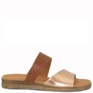 Flatform Σανδάλια Shoes Step κωδ 435 Ταμπά Χρυσό