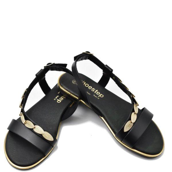 Flat Σανδάλια Shoe Step κωδ 565 μαύρα