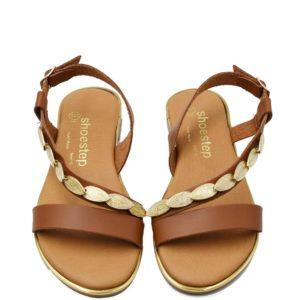 Flat Σανδάλια Shoe Step κωδ 565 ταμπά