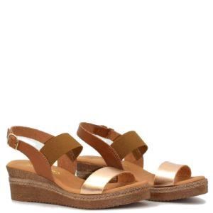 Flatfrom Σανδάλια Shoe Step κωδ 395 Ταμπά