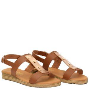 Flatform Σανδάλια Shoe Step κωδ 430 Ταμπά Χρυσό