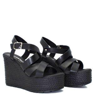 Πλατφόρμες Shoe Step κωδ 725 μαύρο