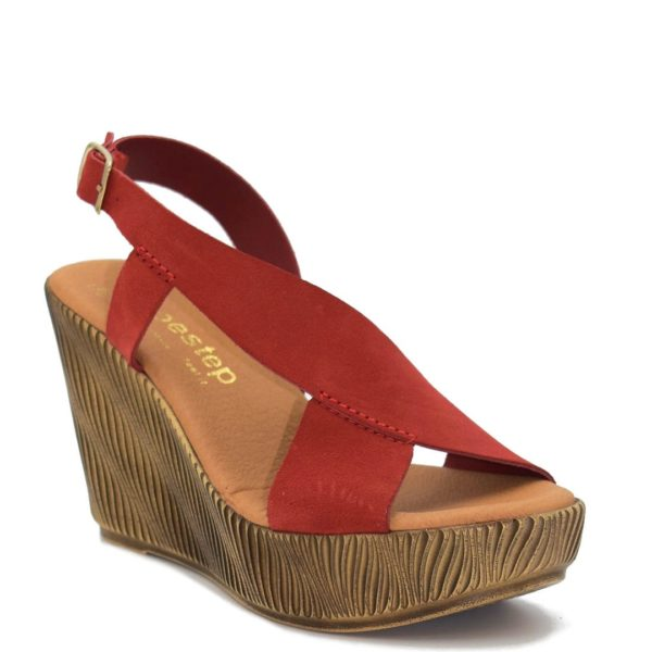 Δερμάτινη Πλατφόρμα Shoe Step κωδ 39 Κόκκινη