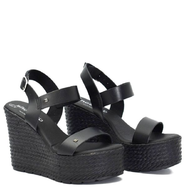 Πλατφόρμες Shoe Step κωδ 721 Μαύρο