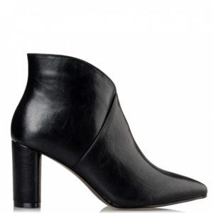 Block heel booties V57-12655 miss NV Μαύρο