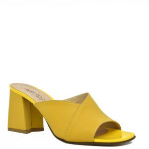 Κίτρινα Δερμάτινα Γυναικεία Πέδιλα Repo Κωδ. 47512